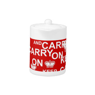 Keep Calm and Carry On Teapot