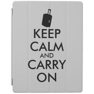 Keep Calm and Carry On Travel Custom iPad Cover