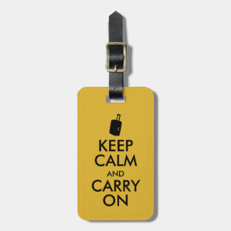Keep Calm and Carry On Travel Custom Luggage Tags