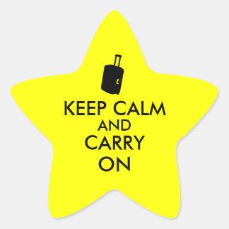 Keep Calm and Carry On Travel Custom Star Sticker