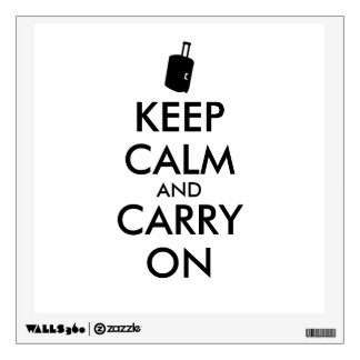 Keep Calm and Carry On Travel Custom Wall Decal