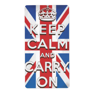 keep calm and carry on travel poster label