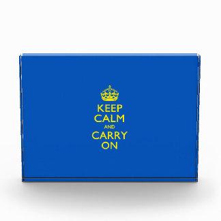 KEEP CALM AND CARRY ON True Blue Award