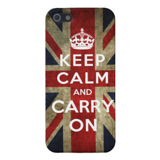 Keep Calm and Carry On Union Jack Case For iPhone SE/5/5s