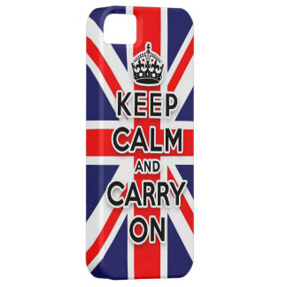 keep calm and carry on Union Jack flag iPhone 5 Cases
