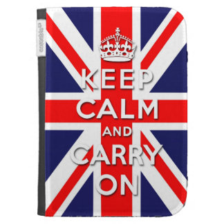 keep calm and carry on Union Jack flag Kindle Keyboard Cases