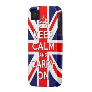keep calm and carry on Union Jack flag iPhone 4 Cover