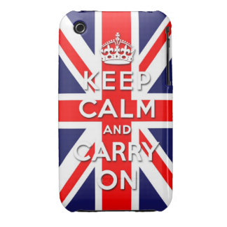 keep calm and carry on Union Jack flag iPhone 3 Case