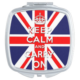 Keep calm and carry on -  Union Jack flag Compact Mirror