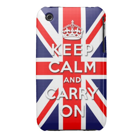 keep calm and carry on Union Jack flag iPhone 3 Cover