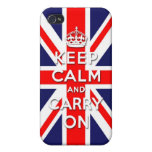 Keep calm and carry on -  Union Jack flag iPhone 4/4S Cover