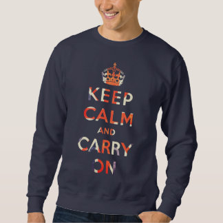 keep calm and carry on Union Jack flag Pullover Sweatshirt