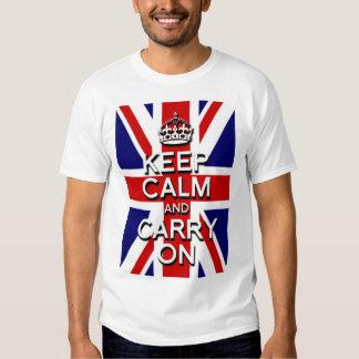 keep Calm and Carry on Union Jack Flag T Shirt