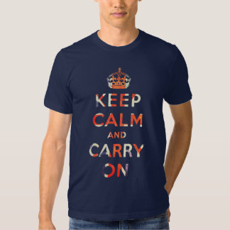 keep calm and carry on Union Jack flag T Shirt