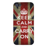 Keep Calm and Carry On Union Jack iPhone 5/5S Cover