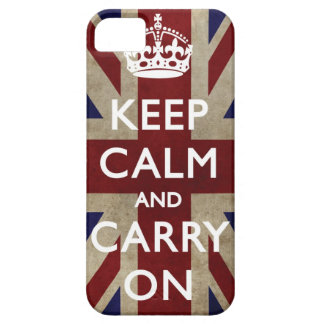 Keep Calm and Carry On - Union Jack iPhone 5 Case