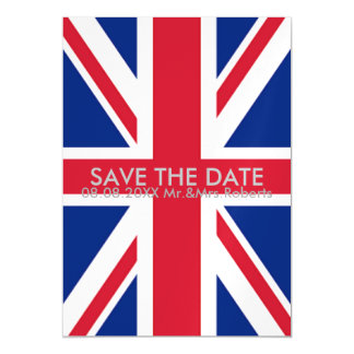 Keep calm and carry on union jack save the date magnetic card