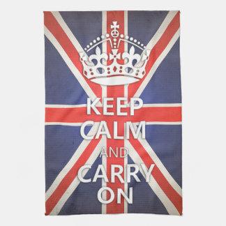 Keep Calm and Carry On United Kingdom Union Jack Kitchen Towel