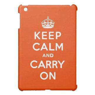 Keep Calm and Carry On Vermillion iPad Mini Cases