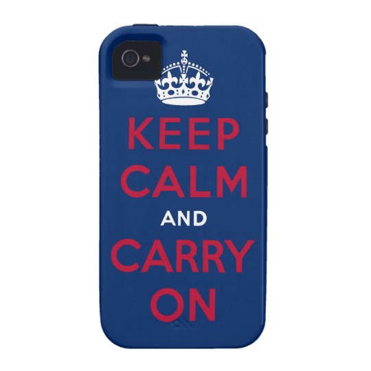 keep calm and carry on vibe iPhone 4 case