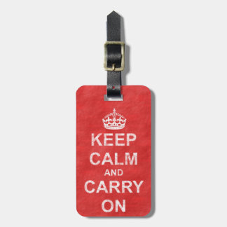 Keep Calm and Carry On Vintage Bag Tag