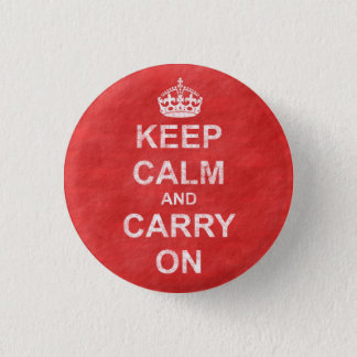Keep Calm and Carry On Vintage Button