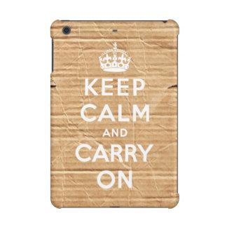 keep calm and carry on - vintage cardboard iPad mini case