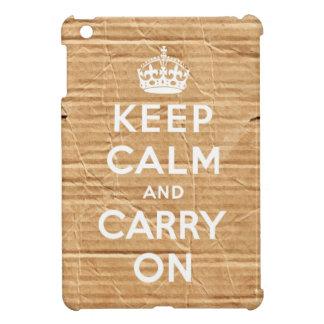 keep calm and carry on vintage cardboard iPad mini covers