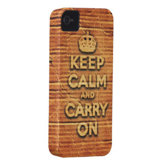 keep calm and carry on vintage cardboard iPhone 4 case