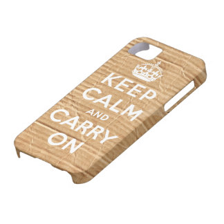 keep calm and carry on vintage cardboard iPhone SE/5/5s case
