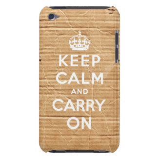 keep calm and carry on vintage cardboard iPod touch case