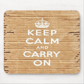 keep calm and carry on vintage cardboard mouse pads