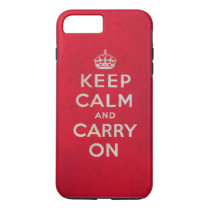 Keep Calm and Carry On | Vintage Design iPhone 8 Plus/7 Plus Case