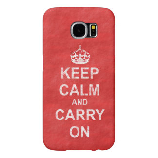 Keep Calm and Carry On Vintage Distressed Samsung Galaxy S6 Case
