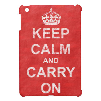 Keep Calm and Carry On Vintage iPad Mini Covers