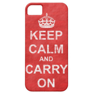 Keep Calm and Carry On Vintage iPhone SE/5/5s Case
