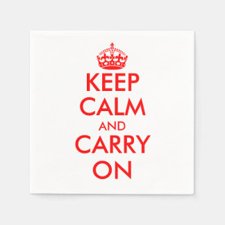 Keep calm and carry on | Vintage paper napkins
