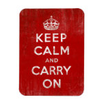 Keep Calm and Carry On, Vintage Red and White Magnet