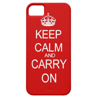 Keep Calm and carry on vintage red iPhone SE/5/5s Case