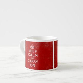 Keep Calm and Carry On, Vintage Sign Mug