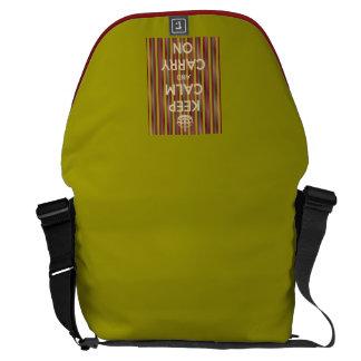 Keep Calm and Carry On Vintage Stripes Messenger Bag