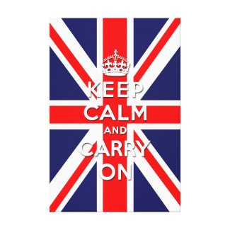Vintage Union Jack Keep Calm and Carry On Poster