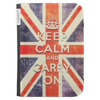 keep calm and carry on vintage Union Jack flag Kindle Case