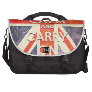 keep calm and carry on vintage Union Jack flag Bags For Laptop