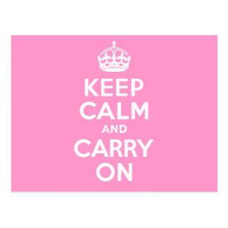 Keep Calm And Carry On. White. Best Price! Postcard