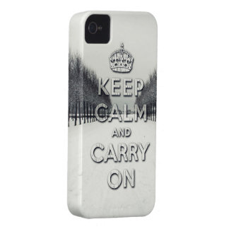 keep calm and carry on Winter season iPhone 4 Case-Mate Case