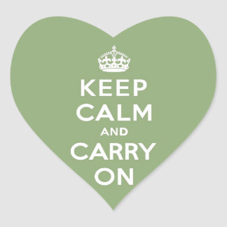 Keep calm and Carry On with an Eco Green BG Heart Sticker