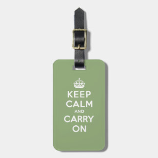 Keep calm and Carry On with an Eco Green BG Luggage Tags