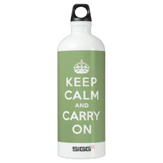 Keep calm and Carry On with an Eco Green BG Water Bottle