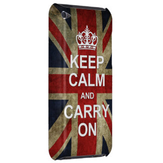 Keep Calm and Carry On - with British Flag Barely There iPod Case